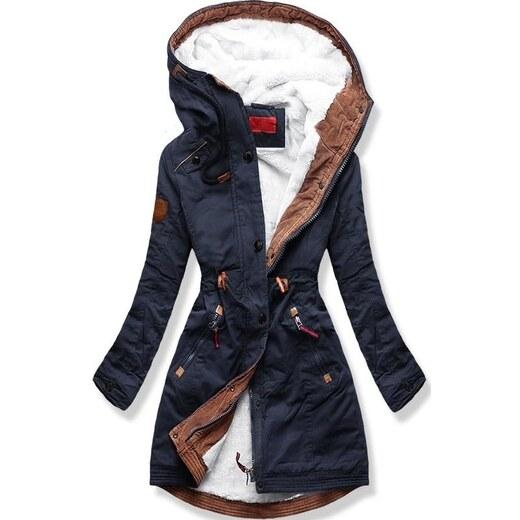 MODOVO Dámska zimná bunda s kapucňou A931 tmavo modrá - Glami.sk b341187347c
