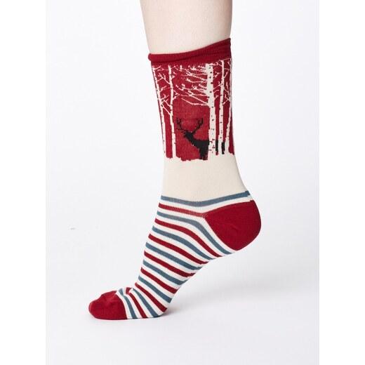 Bambusové ponožky Winter Woodland červené - Glami.cz 9cc08c111f