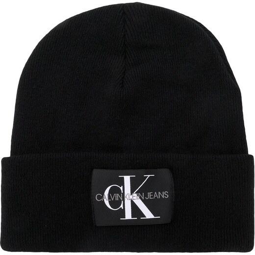 aa202ed545 Calvin Klein Jeans logo patch beanie - Black - Glami.sk