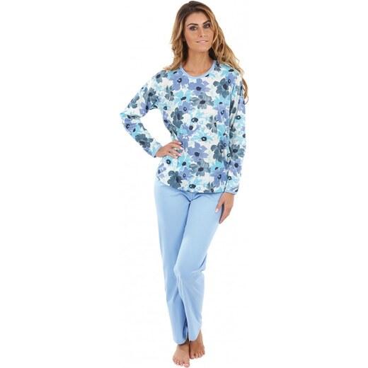 a722d00fc EVONA a.s. Dámske pyžamo P1406 kvety modré - P1406 374 S - Glami.sk