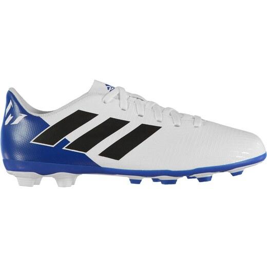 1c6d60437e1 adidas Nemeziz Messi 18.4 Junior FG Football Boots White/Blk/Blue - Glami.cz