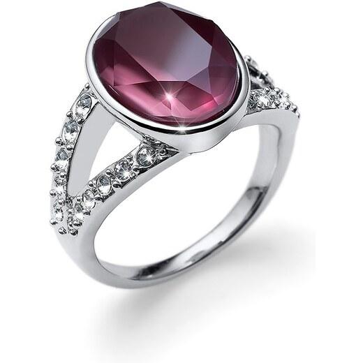 9a8b3f48c Prsten s krystaly Swarovski Oliver Weber Regal violet 58 mm - Glami.cz