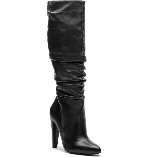 c34f3c29bff0 Čižmy STEVE MADDEN - Carrie Boot SM11000130-03001-017 Black Leather -  Glami.sk