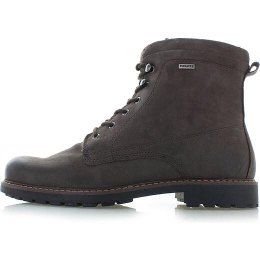 378cfdb662925 Klondike Pánske tmavohnedé kožené členkové topánky Wyne - Glami.sk