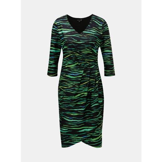 Zeleno–čierne vzorované šaty s prekladanou spodnou časťou Smashed Lemon -  Glami.sk dd94cbb7726