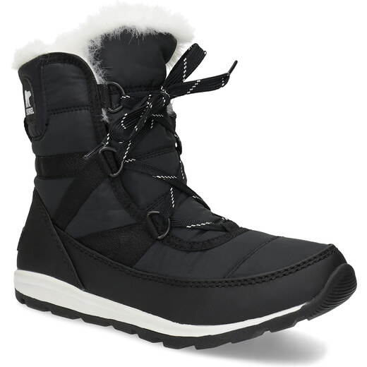 b6b91cc97d Sorel Čierne dámske snehule s bielym kožúškom - Glami.sk