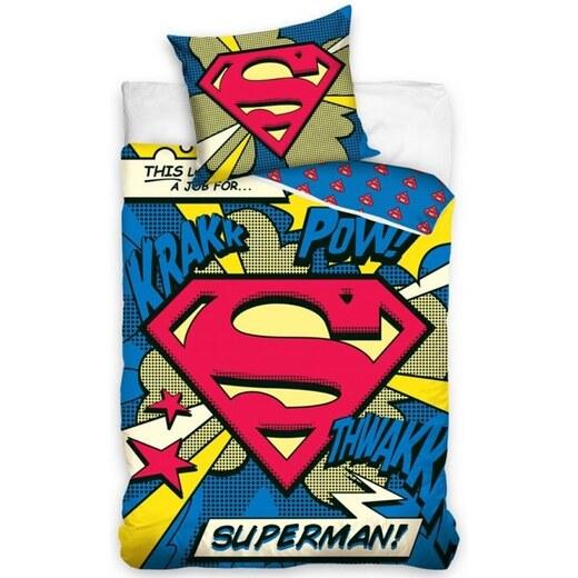 16b8e138e Carbotex Bavlnené posteľné návliečky Superman - Glami.sk