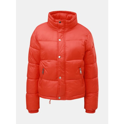 000fa0b94 Oranžová prešívaná nadýchaná krátka zimná bunda TALLY WEiJL - Glami.sk