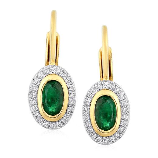 c6afe5f07 iZlato Forever Náušnice se smaragdem a diamanty 0,100 ct Deloris IZBR198SN  - Glami.cz