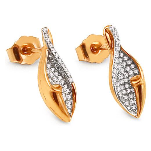d0c532256 iZlato Forever Zlaté diamantové náušnice pecky 0,220 ct Malena KU787N -  Glami.cz