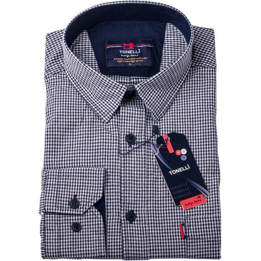7b6432b12b47 Čiernobiela nadmerná košeľa 100% bavlna Tonelli 110958 - Glami.sk
