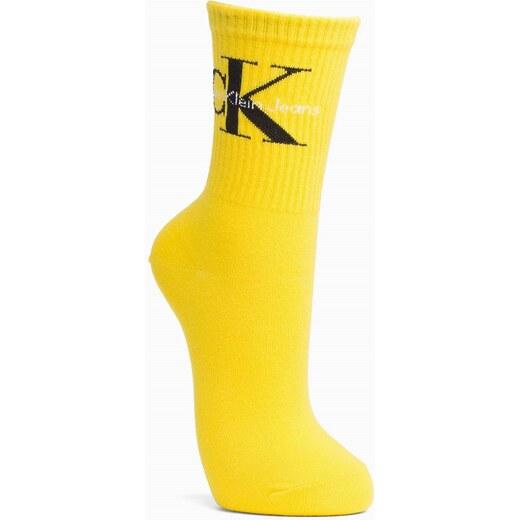 da9fe6d83f0 Calvin Klein žluté ponožky Jeans Logo Yellow - 37-41 - Glami.cz