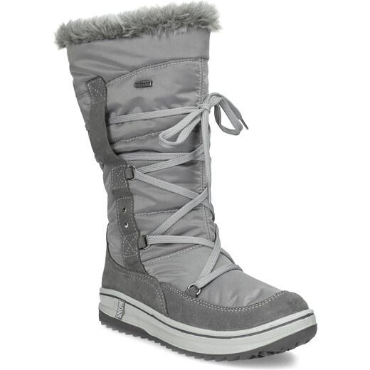 Weinbrenner Dámské šedé sněhule s kožíškem - Glami.cz e2563fbc1a
