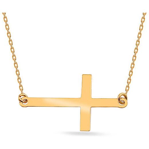 147da8bb3 iZlato Forever Zlatý náhrdelník s křížkem Celebrity IZ16807V - Glami.cz