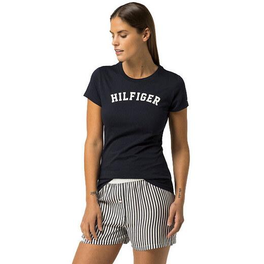 b54baf4906d Tommy Hilfiger Dámské tričko s krátkým rukávem Cotton Iconic Logo SS Tee  Print UW0UW00091-416 Navy Blazer - Glami.cz