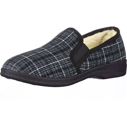 Pánska domáca obuv KLiNGEL šedá kombinovaná - Glami.sk 8114db26442