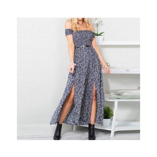 646a41a40804 LOSSKY Kvetované dlhé šaty v bohémskom štýle - Glami.sk
