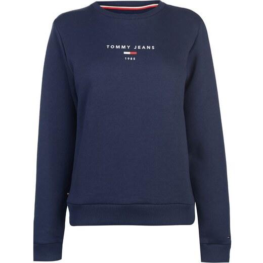 b807684e7e Dámská mikina Tommy Hilfiger Jeans Clean Logo Navy - Glami.cz