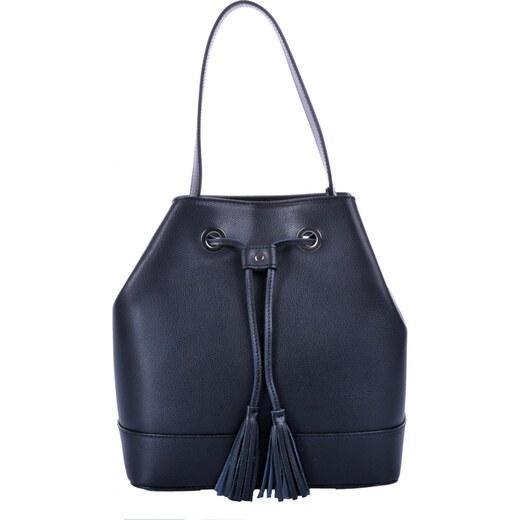 1a2b438969 elegantní kožená kabelka - vak 5324 černá