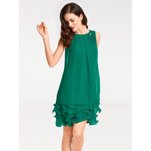 0ebbfcdd2729 heine TIMELESS Koktailové šaty s volánmi zelená - Glami.sk