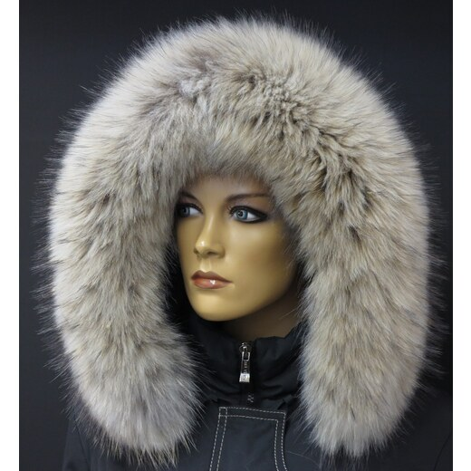 Špongr Kožešinový lem   límec na kapuci z finského mývalovce 4075 ARKTIK -  Glami.cz 70d39d5baa