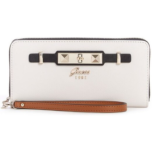 GUESS peňaženka Cherie Large Zip-Around Wallet biela 053576ce148