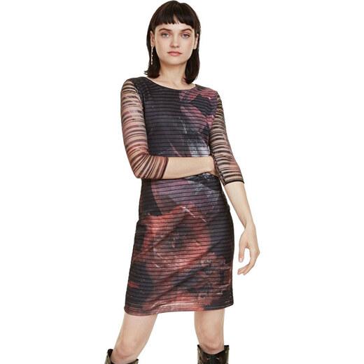 25e682042228 Desigual Dámské šaty Vest Rosa Glam Rosa Glamour 18WWVK67 3044 - Glami.cz