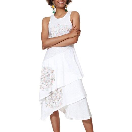 5a72642421d4 Desigual smotanové krémové šaty Vest Chelsea - Glami.sk