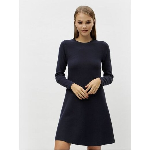 85c6086b47d71 Vero Moda tmavě modré svetrové šaty s dlouhým rukávem Nancy XL - Glami.cz