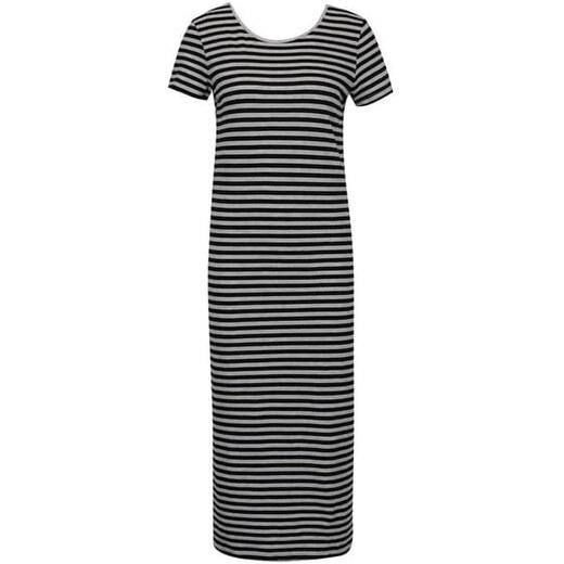 a52db4efc3f5 ONLY černo-šedé dlouhé šaty s pruhy Only Abbie XS - Glami.cz