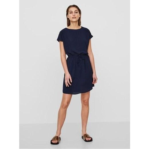 86f9ef7c6f47 Vero Moda tmavě modré šaty Sasha XS - Glami.cz
