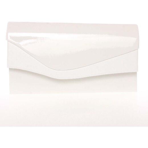 077706e226 Dámska listová kabelka lakovaná biela - Delami Geelong biela - Glami.sk