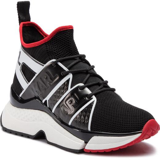 70e7f231ea Sportcipő KARL LAGERFELD - KL61621 Black Knit Textile W/White - Glami.hu