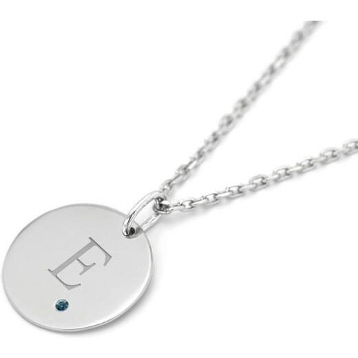 21975a386 Eppi Zlatý prívesok s modrým diamantom a gravírom písmena Johass - Glami.sk