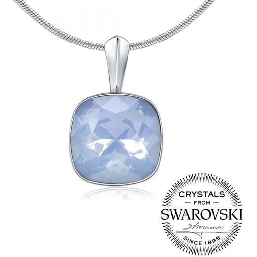 cf5429545 Silvego Strieborný prívesok so Swarovski Crystals - farba modrý opál 12mm  VSW051P - Glami.sk