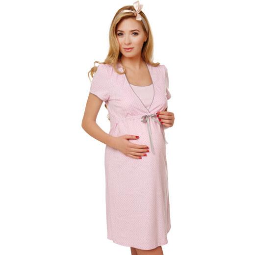 e3e18f7cd6c5 Italian Fashion Bavlnená tehotenská nočná košeľa Felicita ružová - Glami.sk