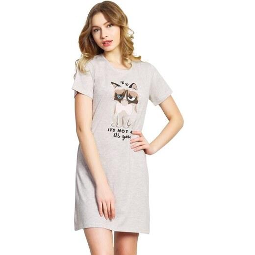 5ea5dd6ffb40 Vienetta Secret Nočná košeľa Star Cat béžová - Glami.sk