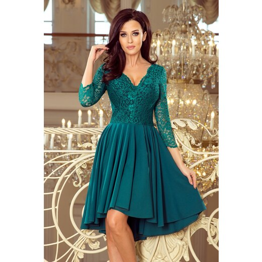 906812e69bfc Numoco Dámské společenské šaty Numoco 130099 zelené - zelená - Glami.cz