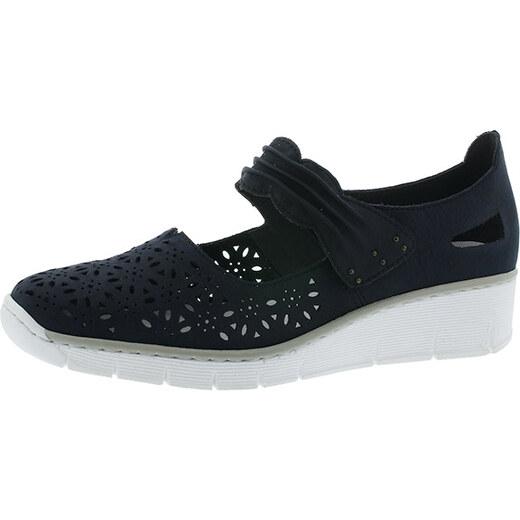 9c1521bfeb Modrá dámska obuv perforovaná Rieker - Glami.sk