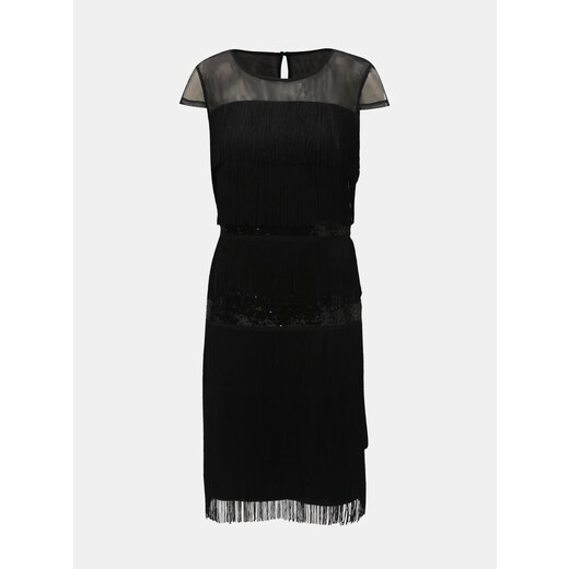 6e6bf68a96 Čierne šaty so strapcami a flitrami Lily   Franc by Dorothy Perkins -  Glami.sk