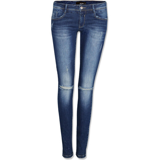 23dd5df42af Tally Weijl Dark Blue Push Up Jeans with Ripped Knee - Glami.cz