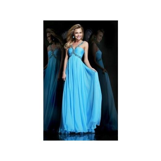 luxusní světle modré společenské plesové šaty na maturitní ples Lorey S-M -  Glami.cz 0c8a0f805b
