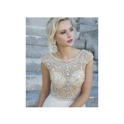 luxusní svatební nebo plesové antické bílé šaty vyšívané Meira S - Glami.cz 9d6d8657c7
