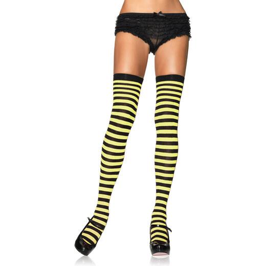 Leg Avenue LEG 6005 Pruhované nadkolenky 6005 - černá žlutá - uni - Glami.cz 1780b2e654