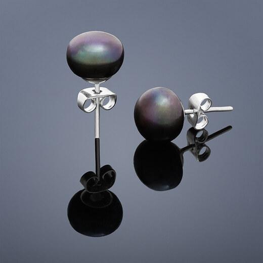 7961a64af Buka Jewelry Buka Perlové náušnice Mutiara 6 – čierna302 - Glami.sk