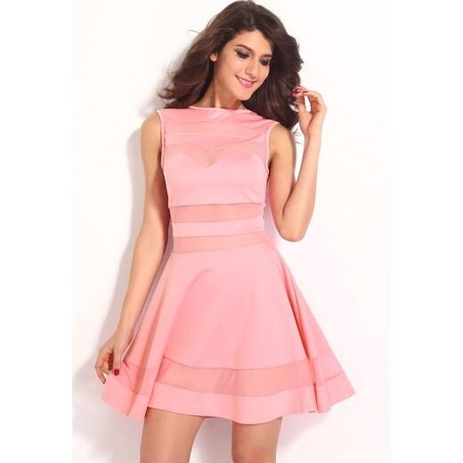 DAMSON Růžové šaty do společnosti - Glami.cz 74af3df907