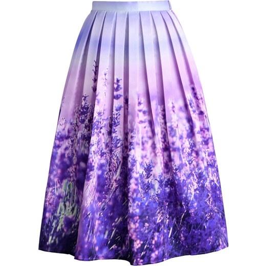 57f6d4a1da9 CHICWISH Dámská sukně Midi Lavender Romance Velikost  S - Glami.cz