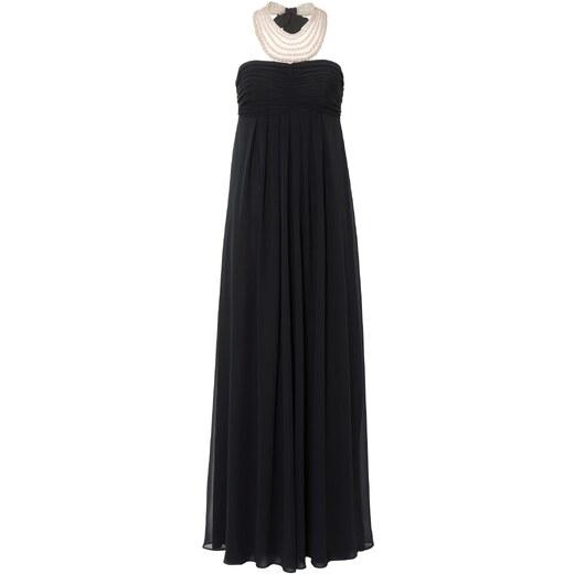 Dlouhé černé plesové šifonové šaty a617ae0f1eb