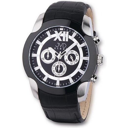 Pánské luxusní chronograph černobílé vodotěsné hodinky JVD steel C1176.3 -  Glami.cz 4078dccb81
