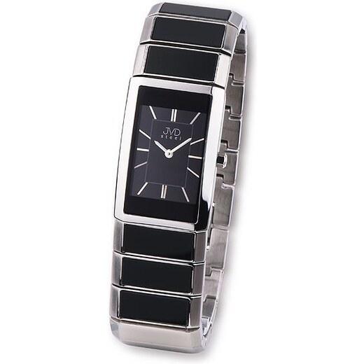 Luxusní dámské keramické náramkové hodinky JVD steel W22.2 (černá keramika)  - Glami.cz 48b3bda849